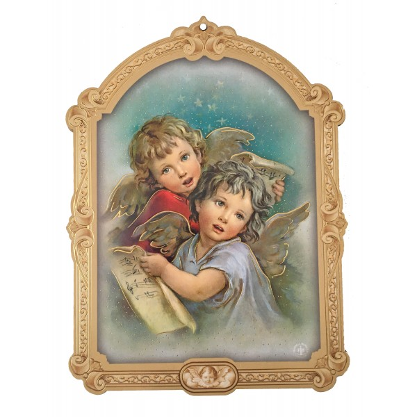 """Svētbilde uz plāksnes """"Sargeņģelis"""" 10 x 14 cm"""