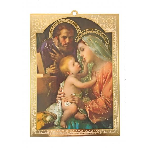 """Svētbilde uz plāksnes """"Svētā Ģimene"""" 11,5 x 16 cm"""