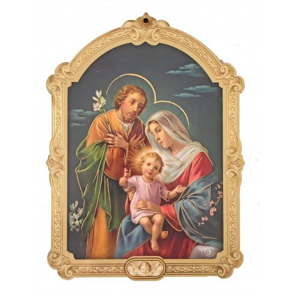 """Svētbilde uz plāksnes """"Svētā Ģimene"""" 10 x 14 cm"""