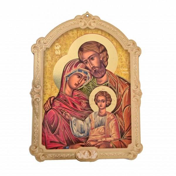 Svētā Ģimene svētbilde uz plāksnes 10 x 14 cm