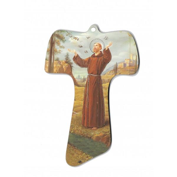 Svētais Francisks svētbilde uz plāksnes  10,5 x 15,5 cm