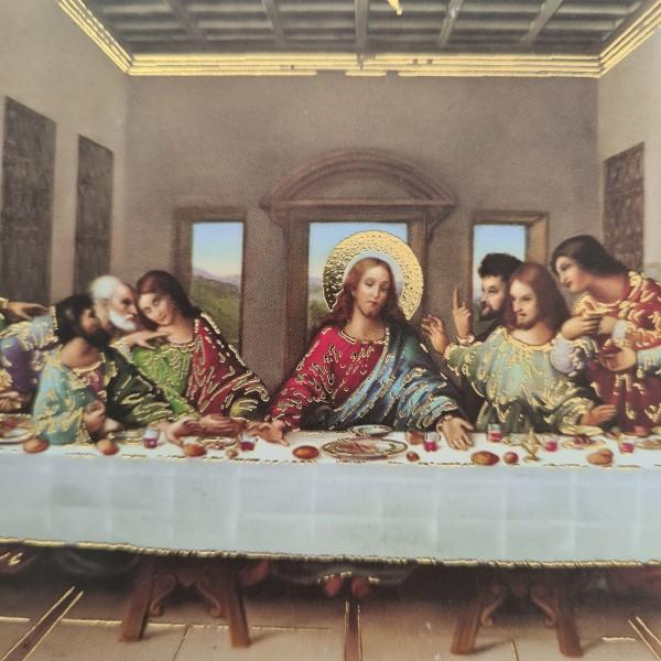 Svētais vakarēdiens svētbilde uz plāksnes 15 x 10 cm