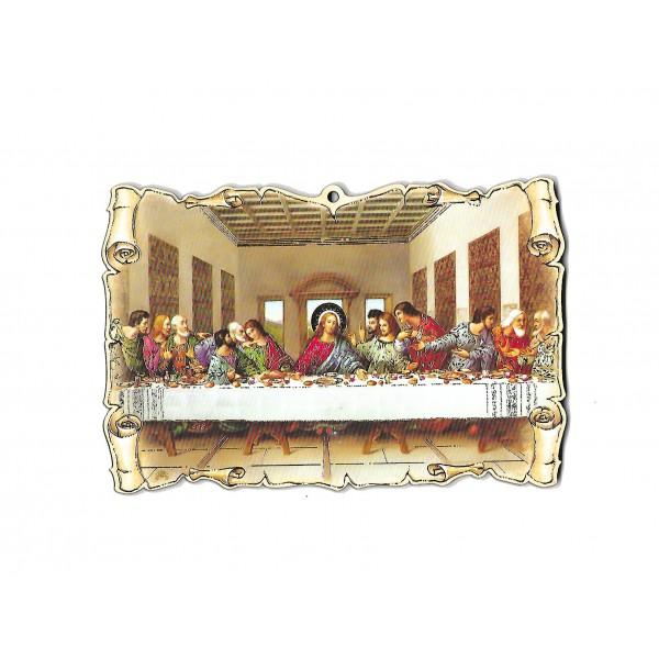 """Svētbilde uz plāksnes """"Svētais vakarēdiens"""" 15 x 10 cm"""