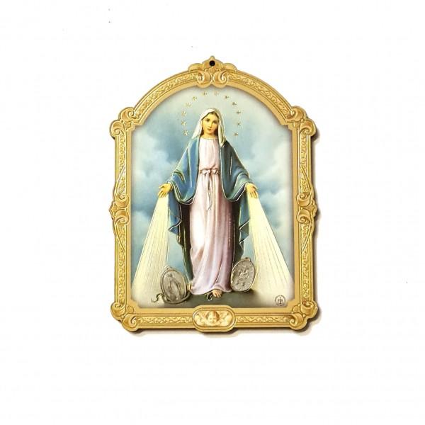 Svētbilde uz plāksnes Brīnumaina Dievmāte 7 x 9.5 cm
