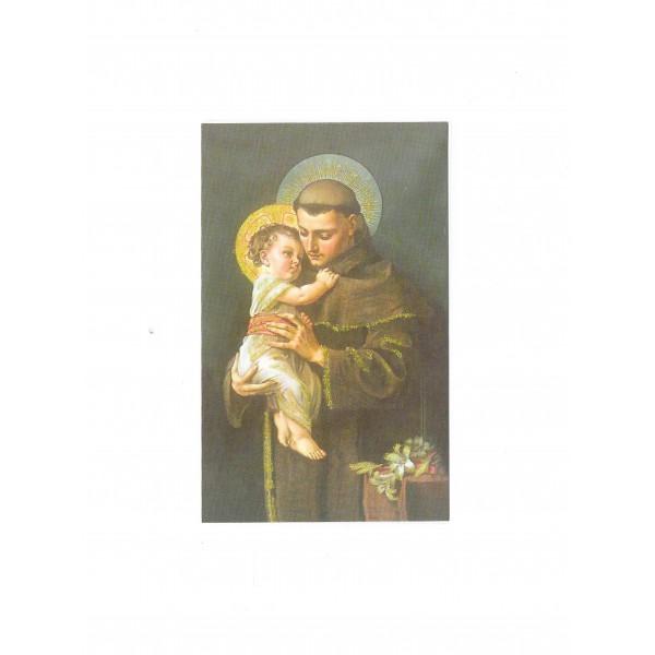 """Svētbildīte """"Sv. Antons ar Jēzus Bērnu"""" ar lūgšanu"""