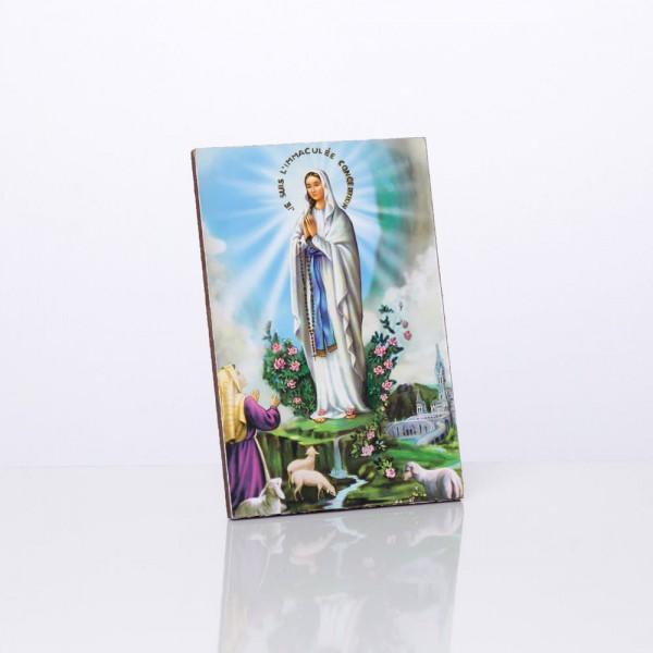 Svētbilde Lurdas Dievmāte 10 x 15 cm
