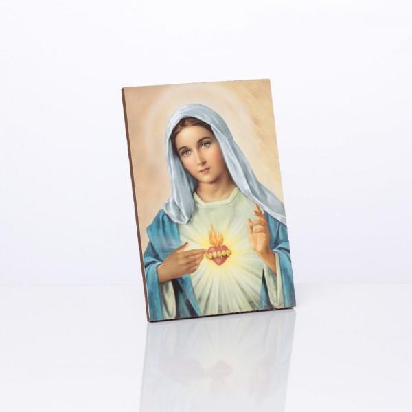"""Svētbilde """"Vissvētākās Jaunavas Marijas sirds"""" 10 x 15 cm"""