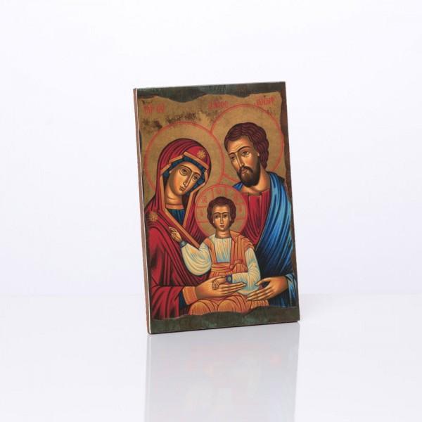 """Svētbilde """"Svētā Ģimene"""" 10x15 cm"""